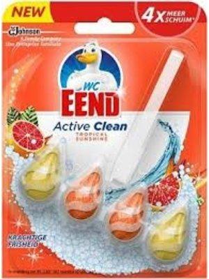 Wc Eend Toiletblok - Active Clean Tropical Sunshine 38gr