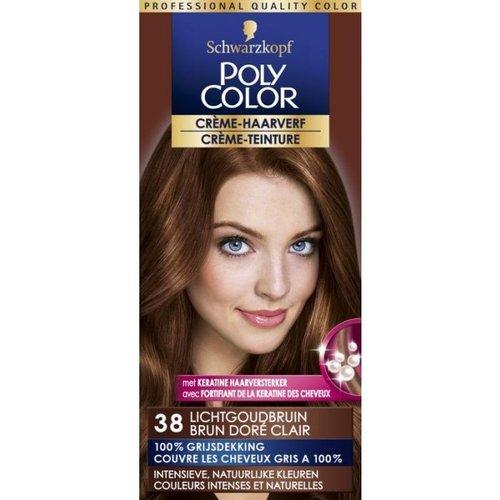 Poly Color Schwarzkopf Poly Color Semi Permanente Haarverf - Nummer 38 Lichtgoudbruin