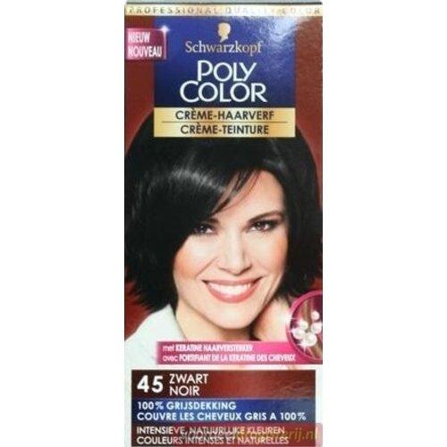 Poly Color Schwarzkopf Poly Color Semi Permanente Haarverf - Nummer 45 Zwart