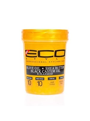 Eco Eco Styler Gold - Olive Oil & Shea Butter & Black Castor Oil & Flaxseed 946 Ml
