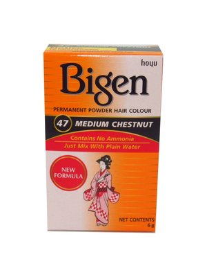 Bigen Bigen Permanent Powder Hair Color - 47 Medium Chestnut