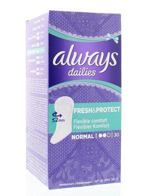 Always Always Inlegkruisjes Normaal  fresh & protect  - 28 Stuks