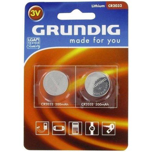 Grundig Grundig Batterij - CR2032-3V 2 stuks