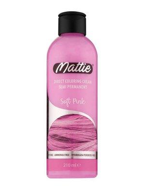 Mattie Direct Coloring Cream Semi-Permanent - Soft Pink 210ml