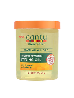 Cantu Cantu Shea butter - Moisture Retention Styling Gel with Flaxseed & Olive Oil 524g