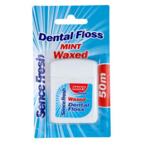 Sence Fresh - Mint Waxed Dental Floss 50m