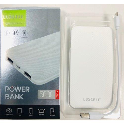 Luxcell - Powerbank Met 2 Poorten Wit