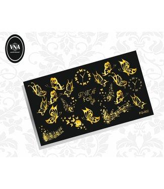 Vanilla Nail Art VNA Waterdecal Goud 002