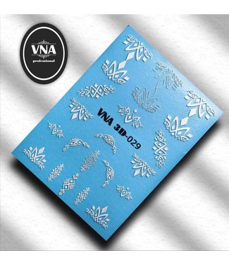 Vanilla Nail Art VNA Water Decal 3D 029