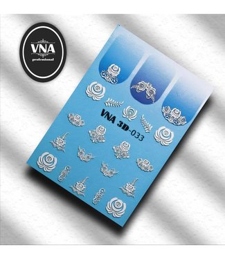 Vanilla Nail Art VNA Water Decal 3D 033