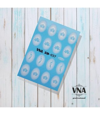 Vanilla Nail Art VNA Water Decal 3D 037