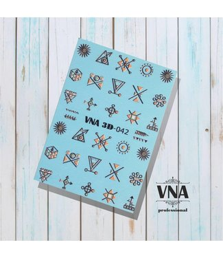 Vanilla Nail Art VNA Water Decal 3D 042