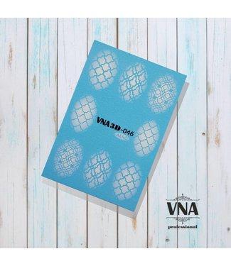 Vanilla Nail Art VNA Water Decal 3D 046