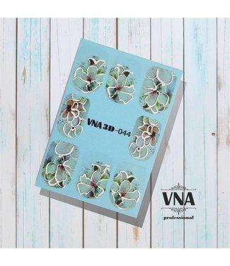 Vanilla Nail Art VNA Water Decal 3D 044