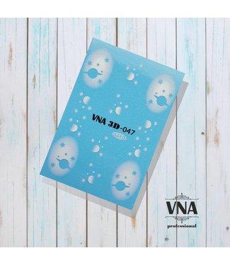 Vanilla Nail Art VNA Water Decal 3D 047