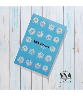 Vanilla Nail Art VNA Water Decal 3D 048