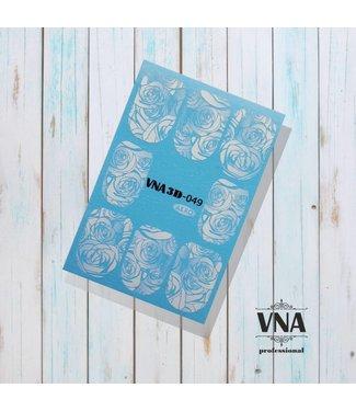 Vanilla Nail Art VNA Water Decal 3D 049