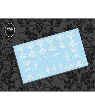 Vanilla Nail Art VNA Waterdecal Wit 018