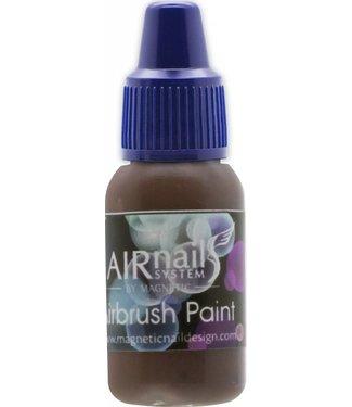 Magnetic AirNails Paint Dark Brown 12 10 ml.