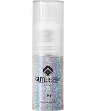 Magnetic Nail Design Glitter Spray Holo Zilver 17 gr.