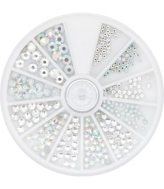 Magnetic Nail Design Strass Wheel Crystal & Ice 6 maten 270 st.