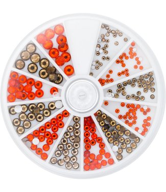 Magnetic Nail Design Strass Wheel Topaz & Hyacinth 6 maten 270 st.