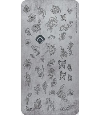 Magnetic Nail Design Stempelplaat 07 Katheryna
