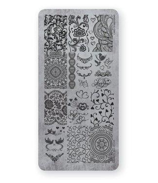 Magnetic Nail Design Stempelplaat Wedding