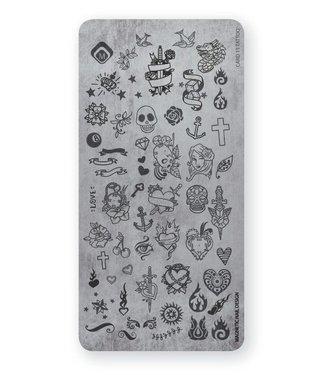 Magnetic Nail Design Stempelplaat Tattoo