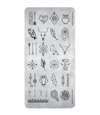 Magnetic Nail Design Stempelplaat 19 La Bohème