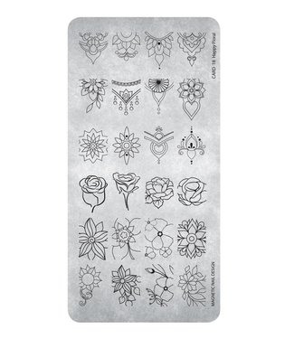 Magnetic Nail Design Stempelplaat Happy Floral
