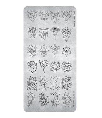 Magnetic Stempelplaat Happy Floral