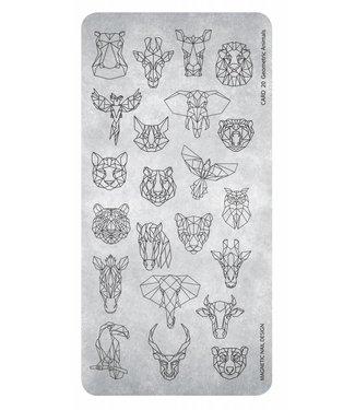 Magnetic Nail Design Stempelplaat Geometric Animals
