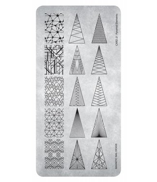Magnetic Nail Design Stempelplaat 21 Pyramid Elements