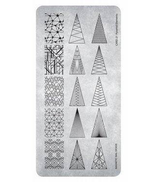 Magnetic Stempelplaat 21 Pyramid Elements