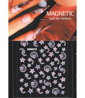 Magnetic Nailart sticker 3D 117422