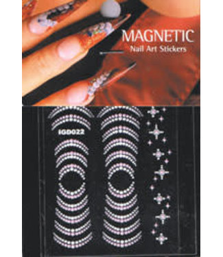 Magnetic Nail Design Nailart Sticker 3D 117424