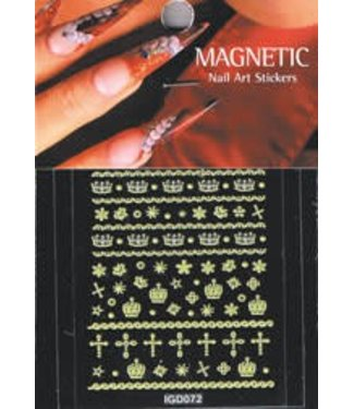 Magnetic Nail Design Nailart sticker 3D 117426