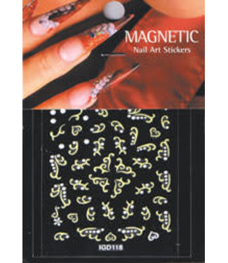 Magnetic Nail Design Nailart Sticker 3D 117428