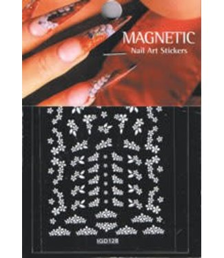 Magnetic Nail Design Nailart Sticker 3D 117429