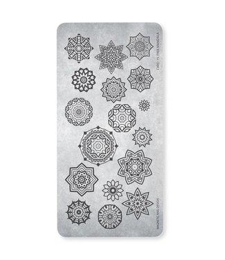 Magnetic Nail Design Stempelplaat Free Mandala