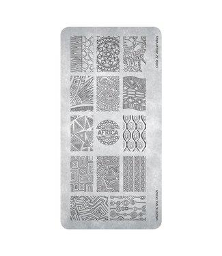 Magnetic Nail Design Stempelplaat 22 African Vibes