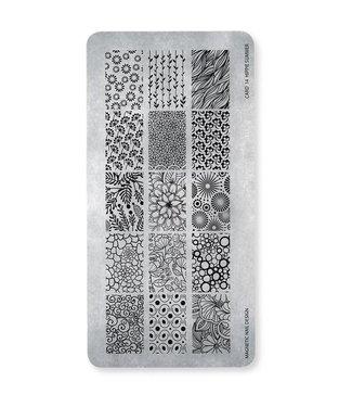 Magnetic Nail Design Stempelplaat Hippie Summer