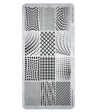 Magnetic Nail Design Stempelplaat 17 Dots 'n' Lines
