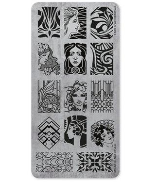 Magnetic Nail Design Stempelplaat Art Nouveau