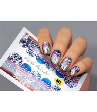 Vanilla Nail Art VNA Waterdecal Metallic 001