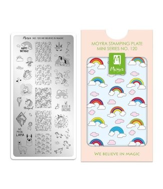Moyra Mini Stamping Plate 120 We Believe in Magic