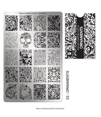 Moyra Stempelplaat 03 Ornaments