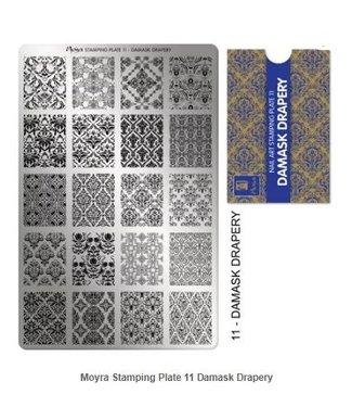 Moyra Stempelplaat 11 Damask Drapery