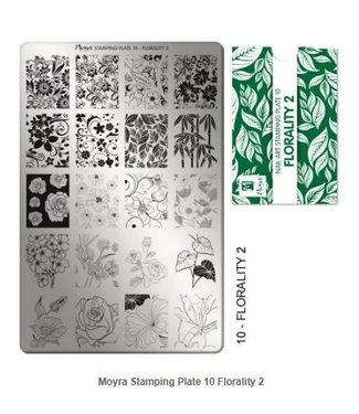Moyra Stempelplaat 10 Florality 2